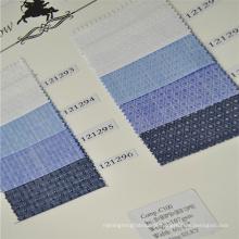 Acabamento de seda maquineta de algodão com tecido estoque regular slub para camisas high-end