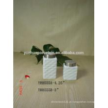 Mais vendidos por atacado cerâmica porcelana candy armazenamento jar