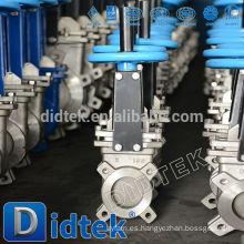 Válvula de compuerta para cuchillos de acero inoxidable Didtek Wafer