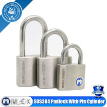 MOK@207P stainless steel padlock made in China lock pin latch