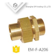 EM-F-A206 Tuerca giratoria de unión de tubería común de latón de unión masculina