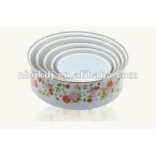 enamel storage bowl with PP lid
