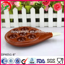 factory custom-made, ceramic color egg tray with handle,egg plate,special