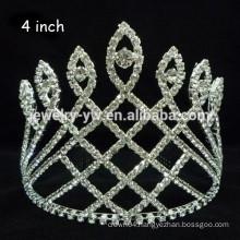 bride hair accessories silver plated full crystal wedding headband