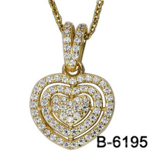 Alta qualidade moda jóias 925 pingente de prata esterlina com amor