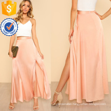 High Slit Front Swing Skirt Manufacture Wholesale Fashion Women Apparel (TA3093S)