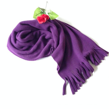 Sell Well Cheap Price Promotional Rose Windproof Polar Fleece Hooded Scarf Factory