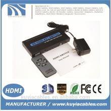 Nouveau commutateur HDMI 4x1 Support HDMI 1.4 Vidéo 3D 1080P avec télécommande IR