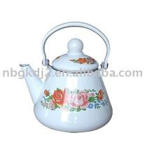 a chaleira de chá esmaltado