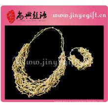 corda trançada feita a mão da corda chain da forma colar trançado para meninas