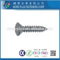 Fabricante en Kaohsiung Taiwán Acero al carbono M3X10 Ranura Phillips Oval Cabeza Auto Tachonado Tornillo
