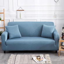 Elastic Polyester and Spandex Fabric Blue Color Sofa Protector Sofa Slip Cover
