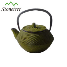 Hot Sale Wholesale Green Cast Iron Enamel Coated Tea Pot