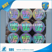 Zolo packaging protection número de serie custom holográfico adhesivo para qc pase