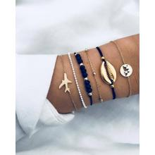 Sets Wave Bracelet Braided Rope Bracelet Set Adjustable Friendship Bohemian Handmade Bracelet Waterproof for Women Men Kids