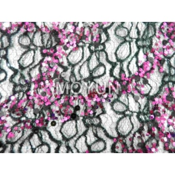 """SPIDE LACE WITH 5MM +9MM SEQUIN EMBD 50/52"""""""
