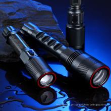 Lumifire CE / RoHS Cool Branco Long Range Dimmable Lanterna LED Rechargerable Tocha