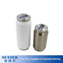 Sublimation Double Wall Stainless Steel Cola Shape Mug Water Bottle Can with Straw