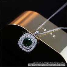 VAGULA изумрудные циркон дизайн Золотое покрытие ожерелье (Hln16339)