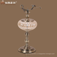 ваза с подставкой и крышкой индийский украшение металла ваза металлический и стеклянный декор