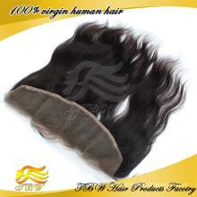 """Großhandelspreis 13 """"x 4"""" 100% reines Menschenhaar gerade peruanische Remy Haar volle Spitze Frontalverschlüsse für Verkauf"""