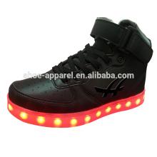 new PU high quality leather shoes LED lights shoes LED sport shoe