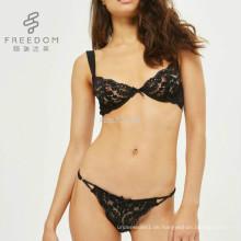 FDBL7112902 Damen sexy hot gute qualität günstigen preis mode großhandel plus größe transparente spitze bh und panty set