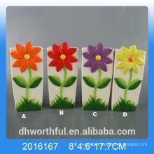 Elegant ceramic air humidifier with flower design