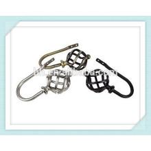 Luxious Cortina Decorativa Rod Tieback Ganchos, Teto Hanger Holder, Metal Hanger Hooks
