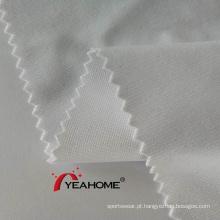 Tecido elástico de poliéster tricotado branco de 320 cm para impressão por sublimação