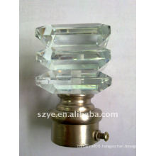 Decoration solid glass curtain rod finials