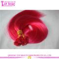 Дешевые оптовая качество цвета фуксии Европы человеческих волос плоский кончик