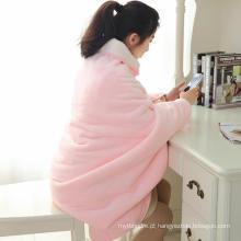 Ilha rosa e manta felpuda de lã