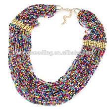 Collier de perles multicouches ethniques de Bohême