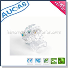 china factory low price new design hot sell amp male female gold plate rj45 connector