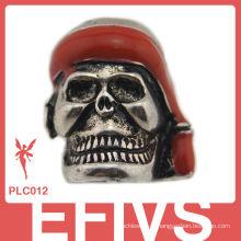 Popular crânio Metal Crânio para Paracord pulseiras