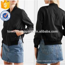 Black Bomber Jacket OEM/ODM Manufacture Wholesale Fashion Women Apparel (TA7003J)