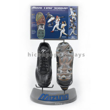 Counter Top Advertising Equipment Metal Sports Wear Retail Store Creative Shoe Display Ideas