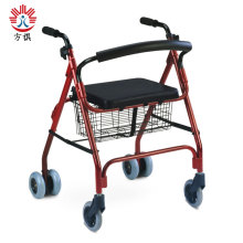 Folding Rollator Walker With Seat And Basket