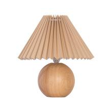 Lampe de bureau en bois blanc