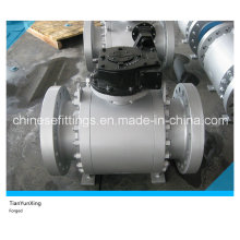 A105n API Gearbox Forging Flange Carbon Steel Ball Valve