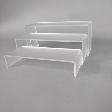 Acryl schoenendisplay Jewelry Riser Showcase Armaturen.