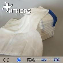 Absorvente 100% algodão branqueado descartável gaze médica lap esponja