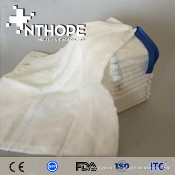 Абсорбент 100% отбеленного хлопка устранимая медицинская марля колени губки