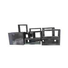 Carrinho de exposição acrílico da laca preta da qualidade (WST-P4)
