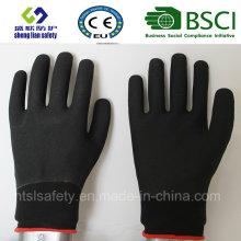 Gant de travail de sécurité en couche de nitrure et de nitrile (SL-NS112)