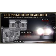 """Phare avant du projecteur LED, 4 """"* 6"""" DOT conforme aux feux de croisement et à la lumière basse"""