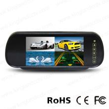 7 pulgadas TFT LCD coche espejo cuadrado dividir el monitor