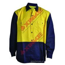 UPF50 + Marinha Laranja Anti UV / produção do sol Camisas de trabalho