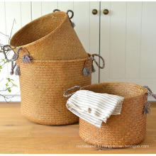 (BC-ST1072) Good Quality Pure Manual Natural Straw Basket